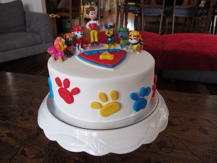 Torta de la Patrulla Canina. Ideal para una fiesta temática.#PatrullaCanina #pastel