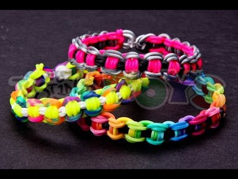 ▶ How to Make a Bicycle Chain Rainbow Loom Bracelet - YouTube