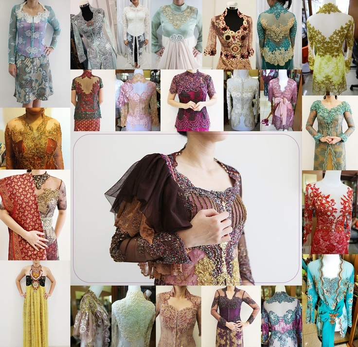 colored kebaya