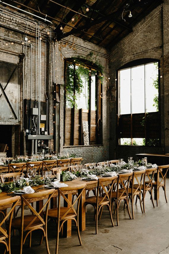 Romantic, industrial, floral wedding at Basilica Hudson in