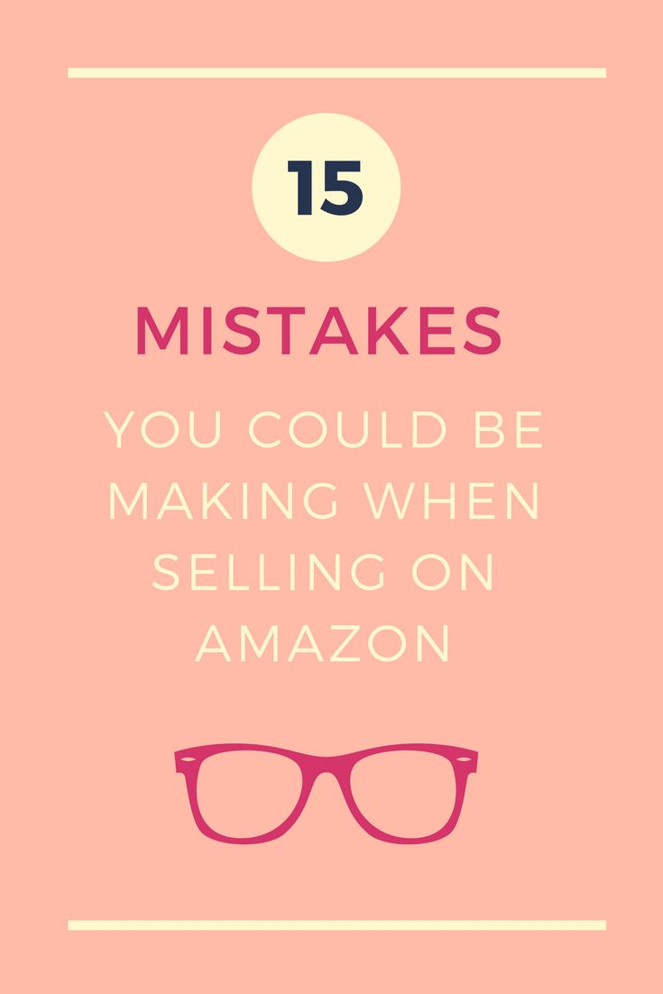 There are mistakes you could be making on #Amazon that could badly hurt your business.   The best way to avoid making mistakes is toknow beforehand what bullets to dodge.  #SellingOnAmazon #ecommerce #makemoney #makemoneyonline #entrepreneurship #salestips
