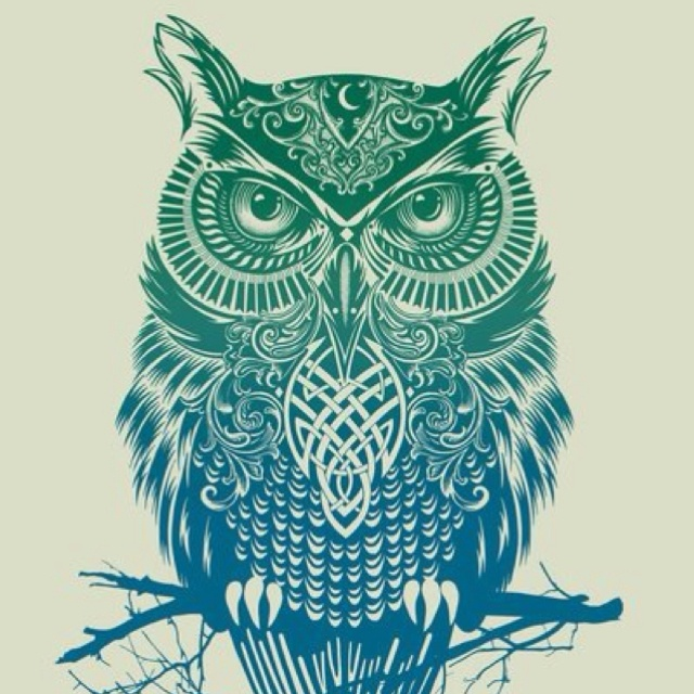 Tribal owl owls pinterest awesome artsy and see you for Cool drawings of owls
