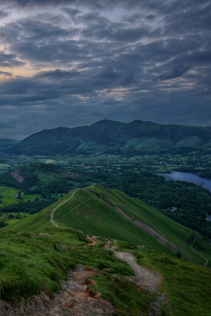 """""""Catching the Last Light"""" - Catbells, Derwentwater, Keswick, Lake District, Cumbria, England by Ian Hex of www.lightsweep.co.uk #Catbells #Skiddaw #Derwentwater #LakeDistrict #England"""