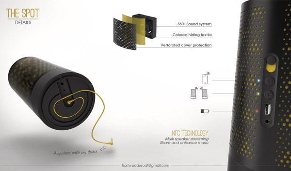 NIXON - Portable Speakers by Hortense Desodt, via Behance