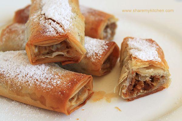 Tikvenik  (vegetarian) - Traditional dessert on Christmas Eve dinner for Bulgarians