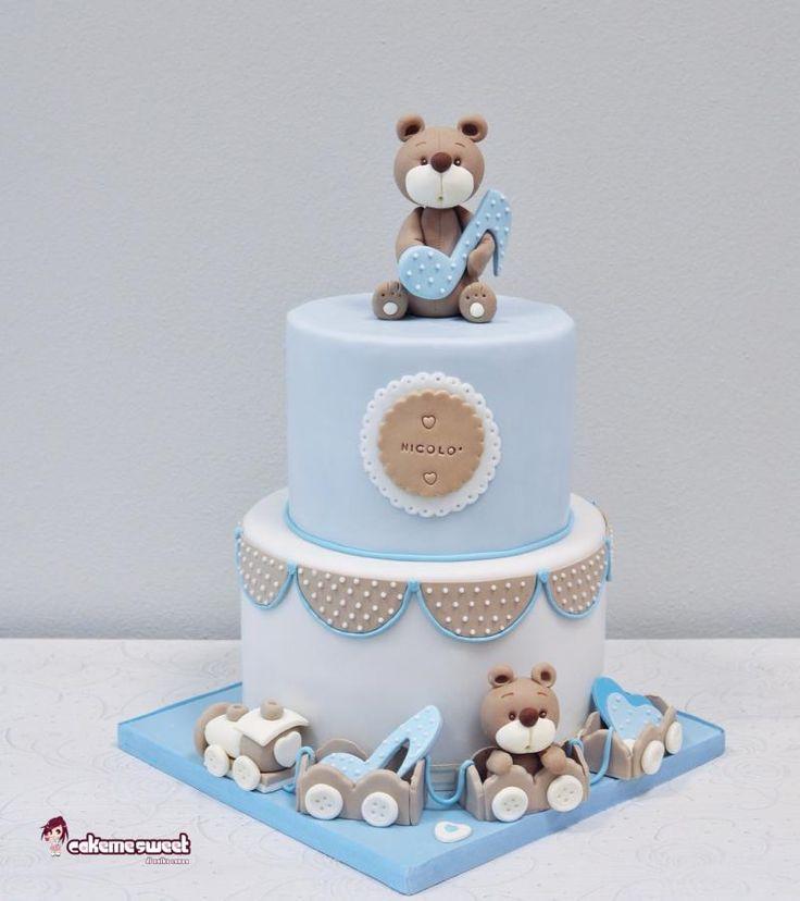 Baby Boy Christening cake by Naike Lanza