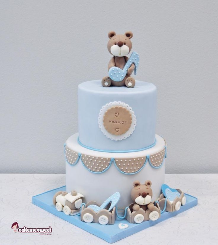 Baby Boy Christening cake by Naike Lanza