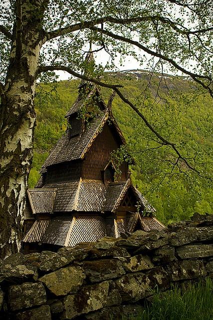 Borgund stavkirke, Norway  Built about 1150. by Melissa Toledo