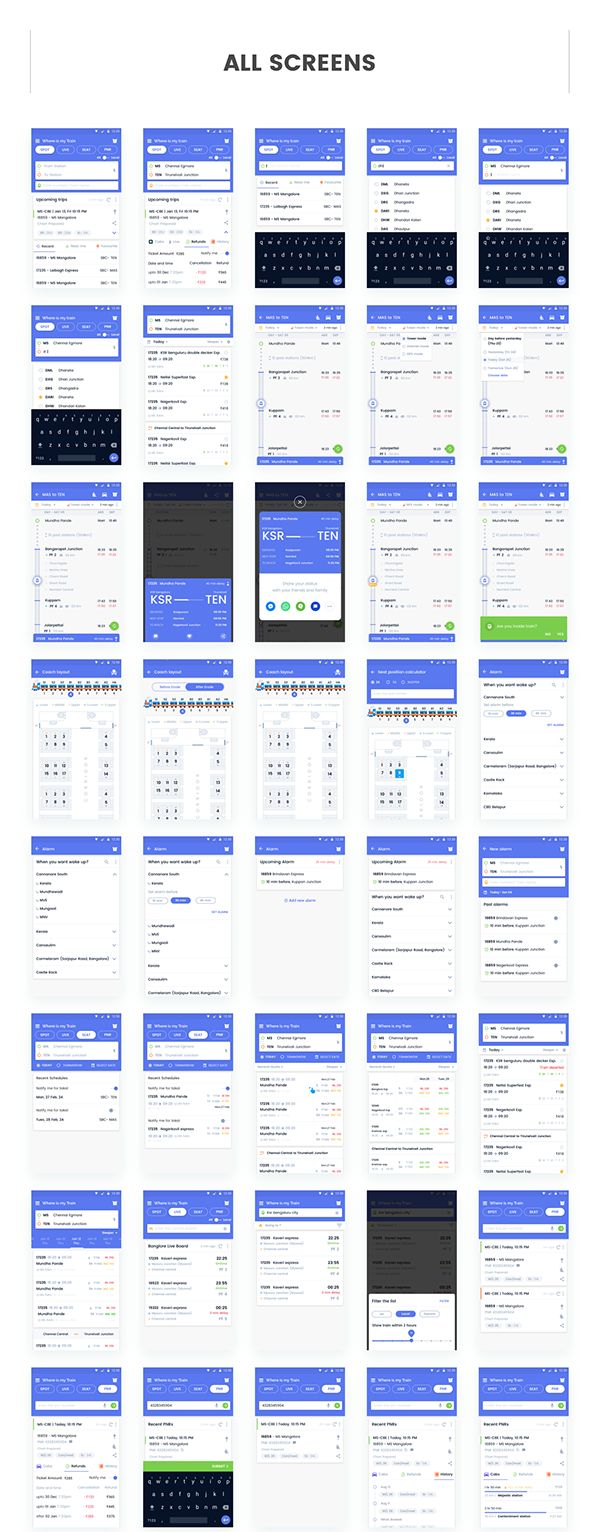 UI/UX Advanced Train Utility app on Behance