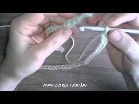 Colsjaal met eenvoudige steek haken - Zenspiratie