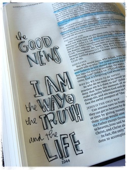 the Good News, I am the Way & the Truth & the Life [credit to Stephanie Ackerman, stephanieackermandesigns.com]