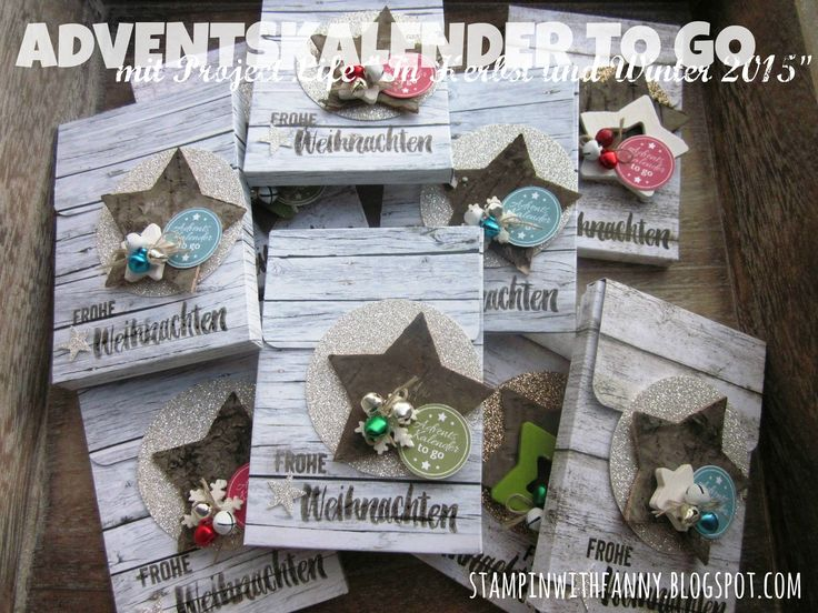 stampin up stampinwithfanny adventskalender to go advent calender project life in herbst und winter 2015 seasonal snapshot glitzerpapier silber #stampinwithfanny