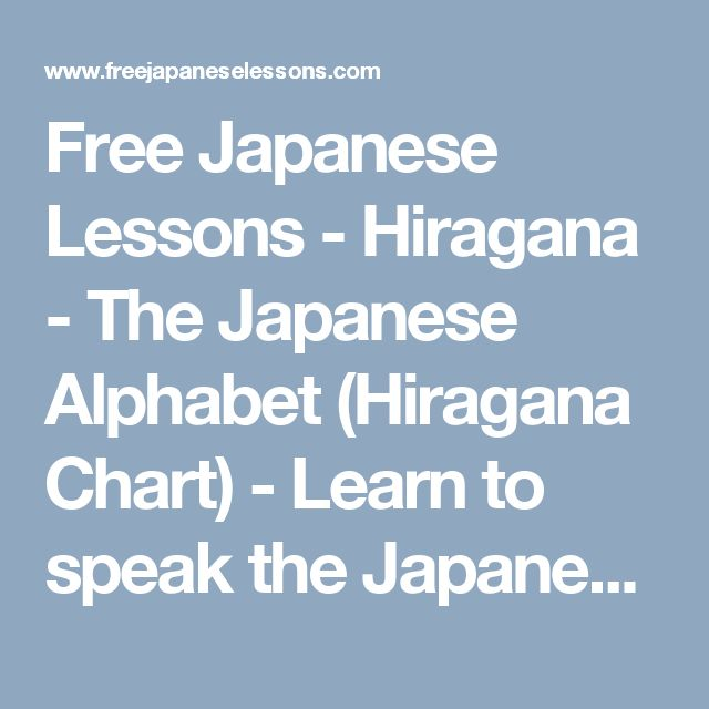 The 25+ Best Hiragana Chart Ideas On Pinterest | Learn Basic