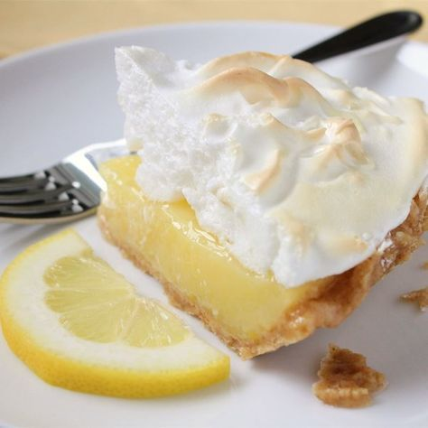 "Grandma's Lemon Meringue Pie | ""Excellent recipe! Nice and lemony, not too sweet with good proportions of curd and meringue."""