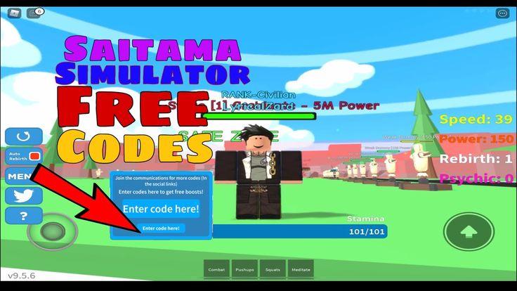Saitama simulator free codes roblox roblox saitama coding