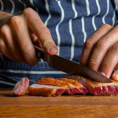 How to Make Seared Duck Breast with Wheat Berries and Endive | Tasting Table Recipe