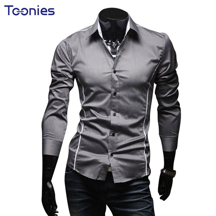 Hot Sale Slim Fit Man's Shirts Long Sleeve Men's Shirt Casual Business Camisa Social Dress Male Man Chemise Homme Overhemd Heren