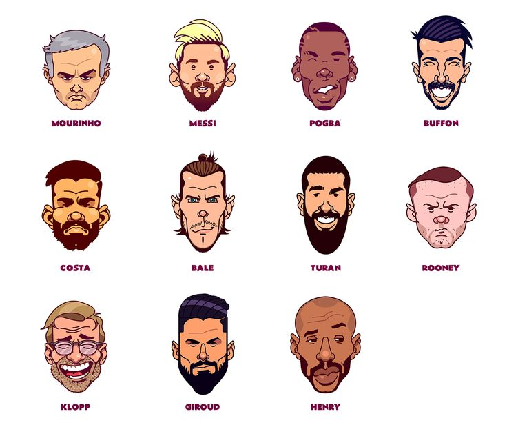 Funny Football Faces 2017 on Behance