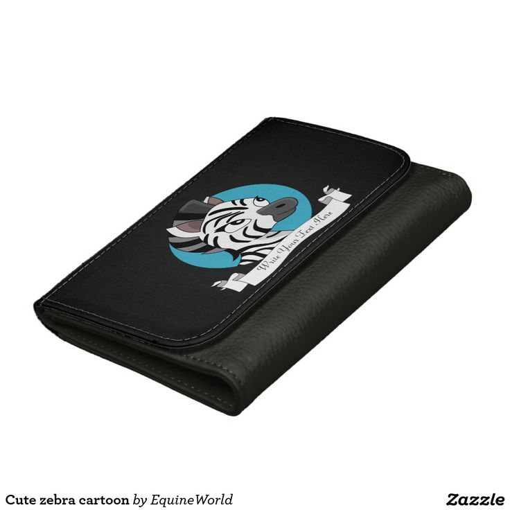 Cute zebra cartoon women's wallets