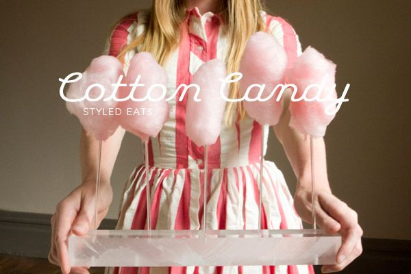 Cotton Candy via Oh Happy DayCotton Candy, Sweets Tables, Cotton Candies Thinking, Summer Parties, Cottoncandy, Acrylics Trays, Candies Trays, Candythink Colors, Colors Candies