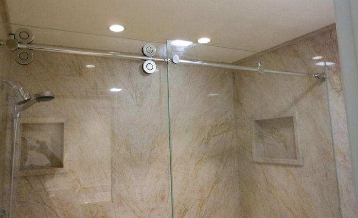 replacing shower doors with curtain