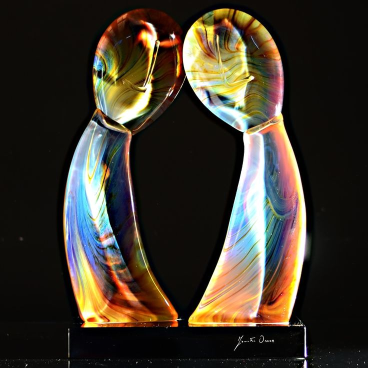 PRIMORDIAL COUPLE Lovers by ZANETTI #yourmurano #glass #sculptures
