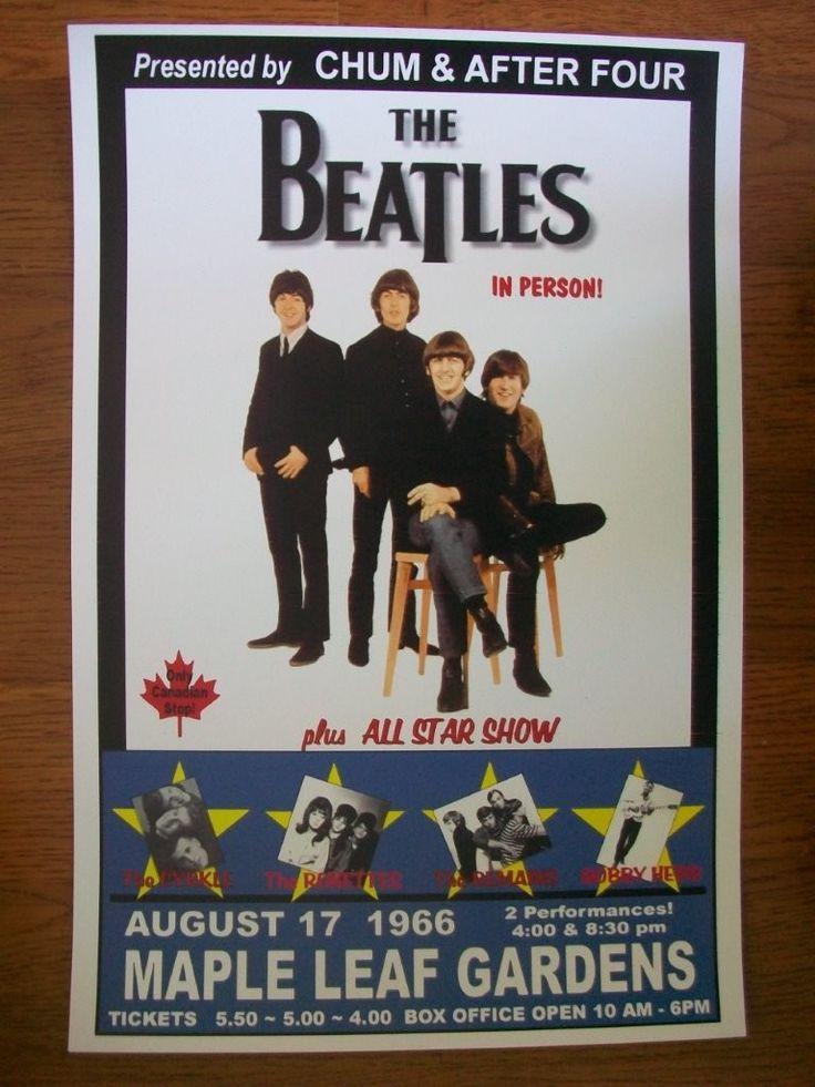 Beatles Poster Toronto Aug 17 1966 Maple Leaf Gardens.