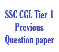SSC CGL Tier 1 Previous Year Question Paper