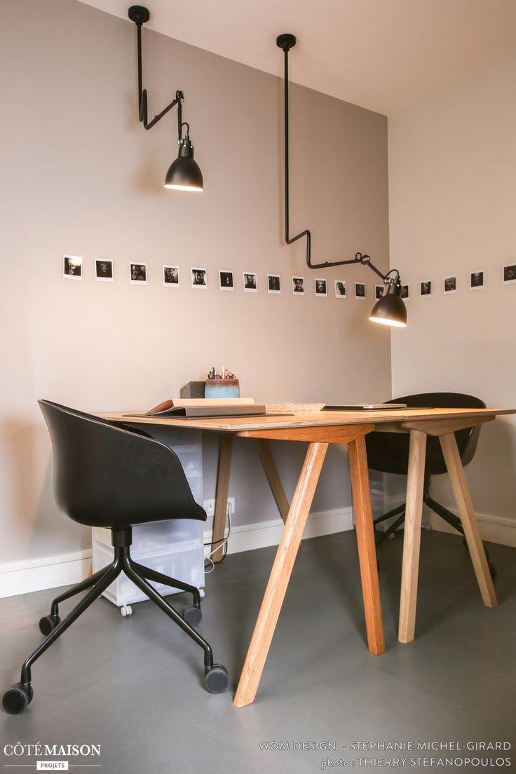Rénovation et décoration d'un loft Romainville#Bureaux#Bouroullec#Chaises#Hay#Lampes#Gras#WOM Design- Stéphanie Michel-Girard - Côté Maison