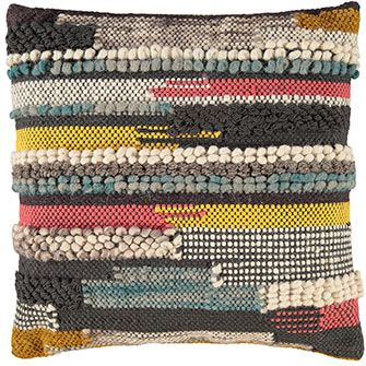 Multicoloured Woven Cushion 50x50cm
