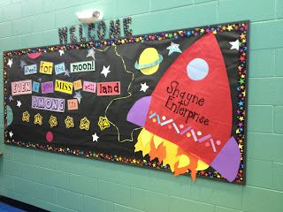 Outer-space themed bulletin board for your classroom