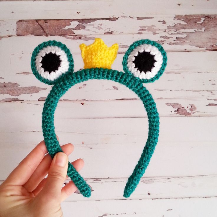 Frog Crochet Crown- Crochet Crown- Handmade Crown-Baby Shower Gift by busem on Etsy