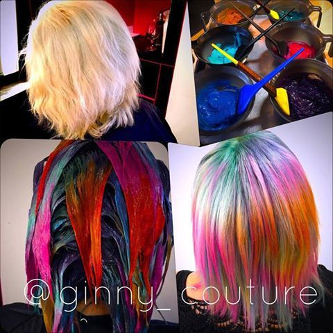 This opal hair by Ginny reminds us of an oil painting! Laura gave her free reign to let her artistic vision come to life, and it paid off.