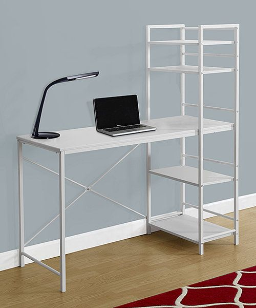 Look at this Monarch Specialties White Metal Computer Desk on #zulily today!