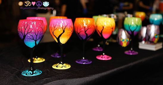 Wine Me Company | Hand Painted Wine Glasses