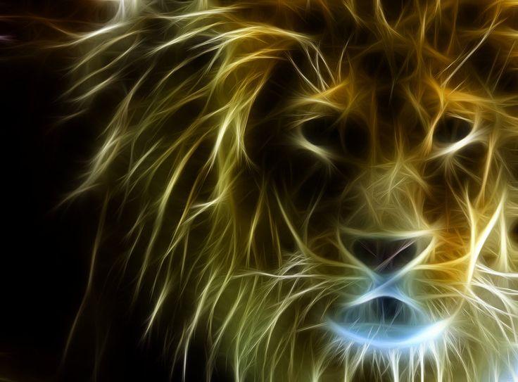 tiger fractal cats e - photo #23