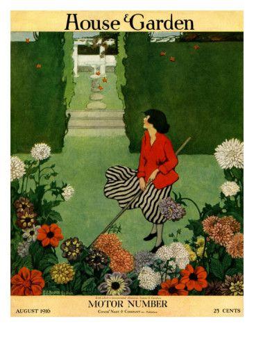 House & Garden Cover - August 1916 Ethel Franklin Betts