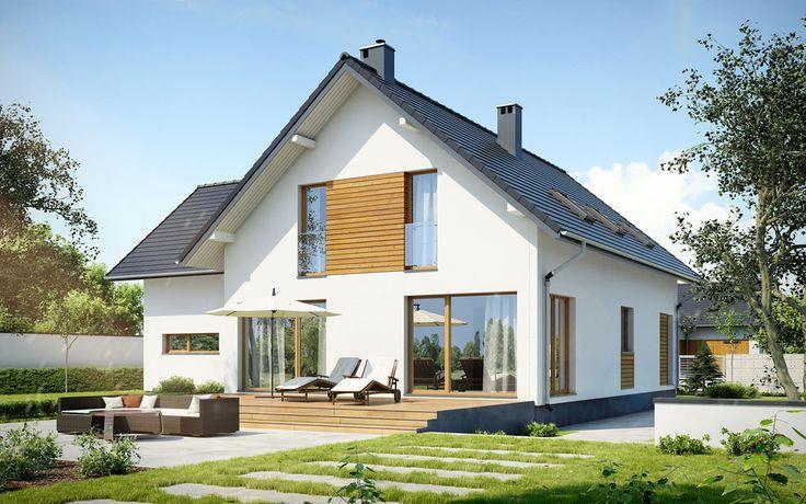 DOM.PL™ - Projekt domu DEA Bergen NF40 CE - DOM DE1-06 - gotowy projekt domu