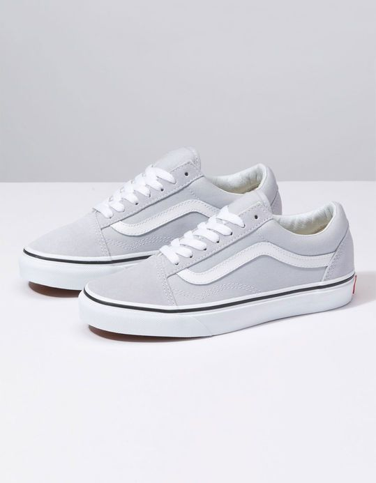 de20e8fa07f4dc VANS Old Skool Gray Dawn   True White Womens Shoes