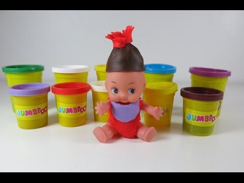 DIY Play Doh Dress Up Baby. Learn How to Make Clothes from Play Doh - YouTube