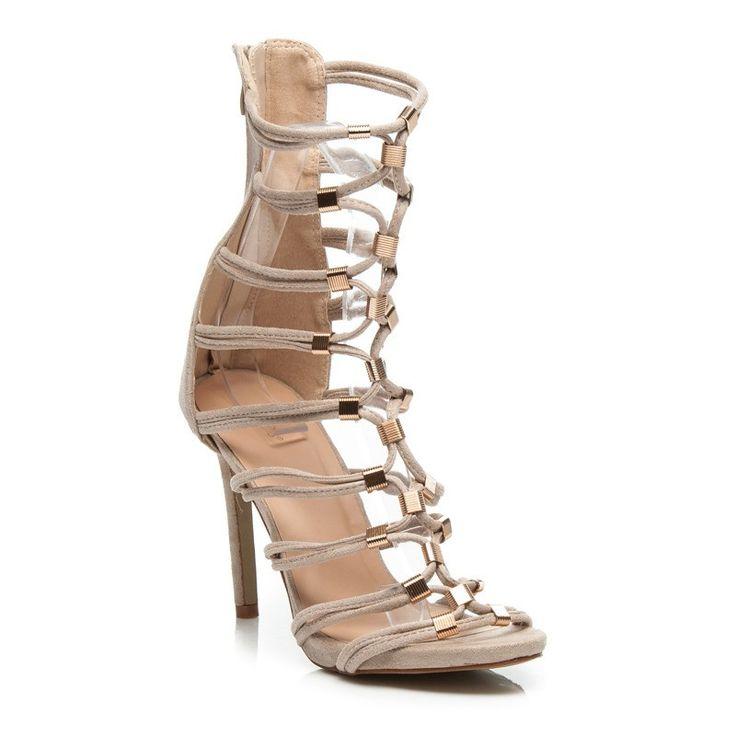 Štýlové sandále na podpätku 1060-14BE