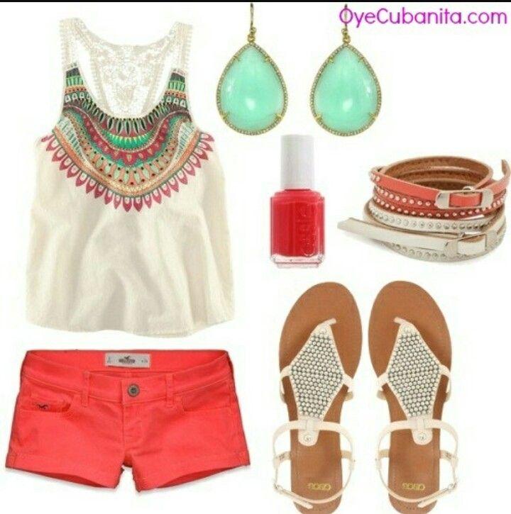 Aca tenemos algo más sencillo de ropa de verano, algo más simple..aunque tu lo puedes mezclar con otros accesorios!