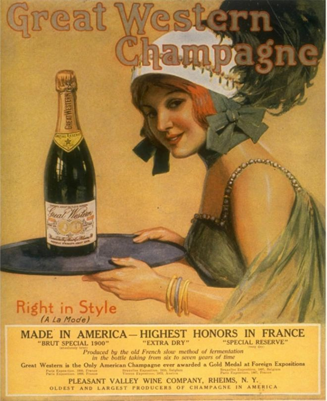 1920s advertisements | Great Western Champagne, Alcohol, USA (1920)