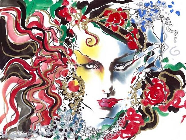 Fashion illustration exhibition by Tony Viramontes