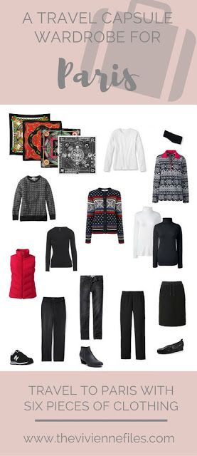 Can You Really Travel with Only SIX Pieces of Clothing? A travel capsule wardrobe for Paris, France in winter.