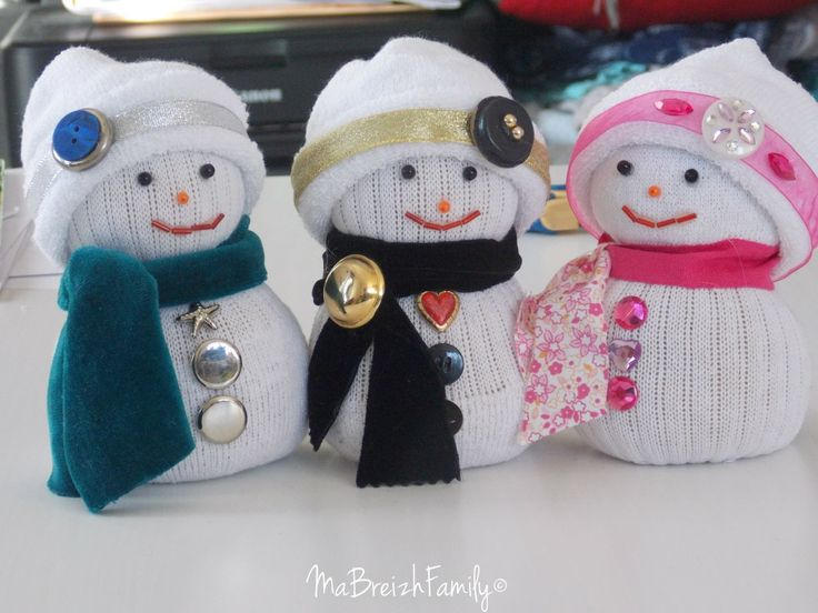 * DIY de Noël : un bonhomme de neige en chaussette * ⋆