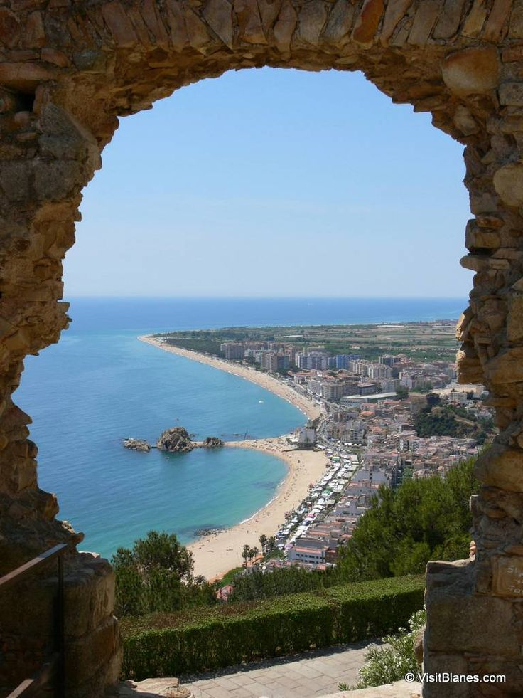 Blanes as seen from the hill of San Juan.      Blanes is one of the most popular vacation resorts at the Costa Brava.