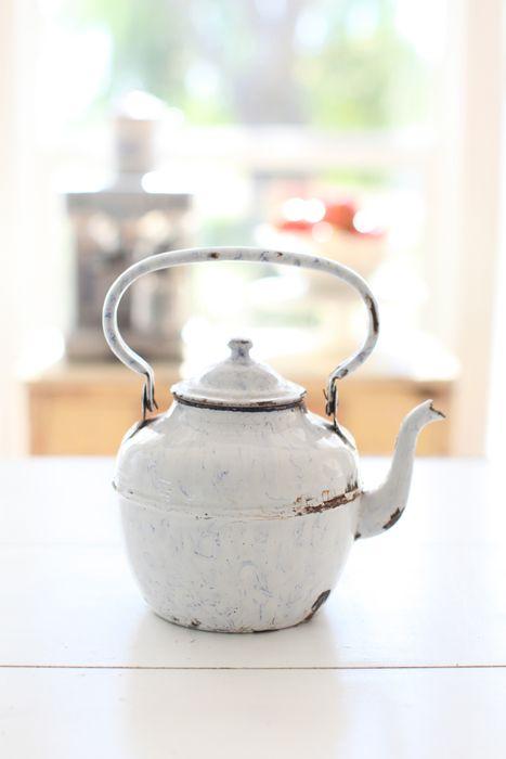 antique french tea pot - love for inside or outside (cute flower pot)