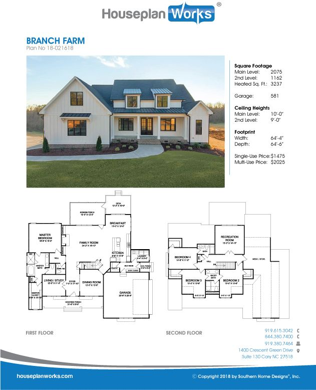 Branch Farm Farmhouse Plans New House Plans Custom Home Plans