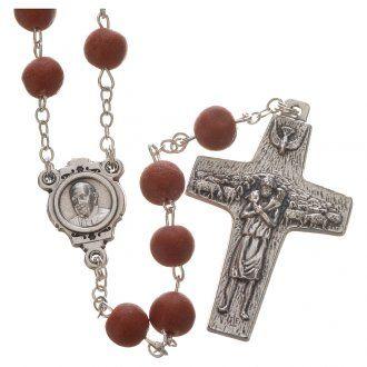 Rosario perfumado al jamín rojo Papa Francisco | venta online en HOLYART
